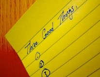 Mindfulness CBT Tool three good things